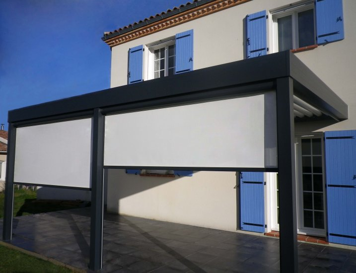 pergola aluminium bioclimatique prenium toulouse installation de pergola en alu sur mesure. Black Bedroom Furniture Sets. Home Design Ideas