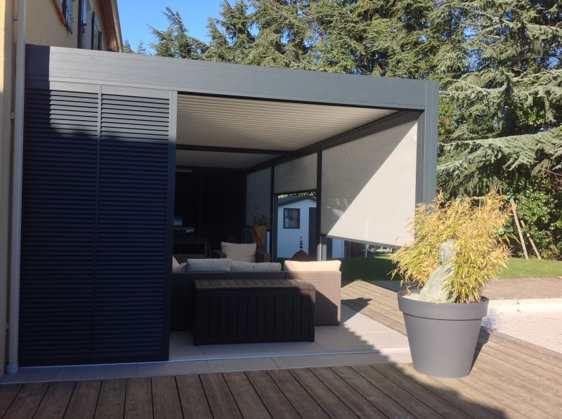 options pergola aluminium portet sur garonne installation de pergola en alu sur mesure. Black Bedroom Furniture Sets. Home Design Ideas