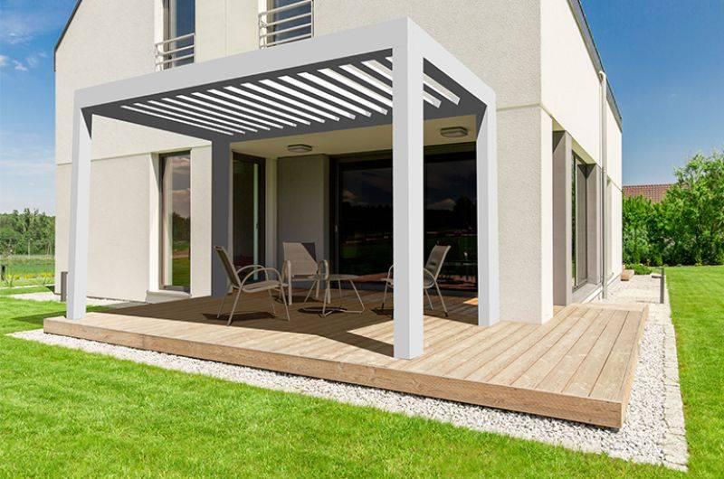 pergola bioclimatique izi manuelle installation de pergola en alu sur mesure toulouse. Black Bedroom Furniture Sets. Home Design Ideas