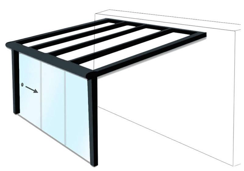 paroi de verre coulissant pour pergola installation de pergola en alu sur mesure toulouse. Black Bedroom Furniture Sets. Home Design Ideas