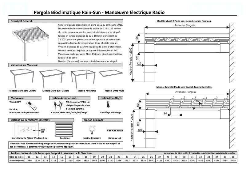 pergola bioclimatique facile poser installation de. Black Bedroom Furniture Sets. Home Design Ideas